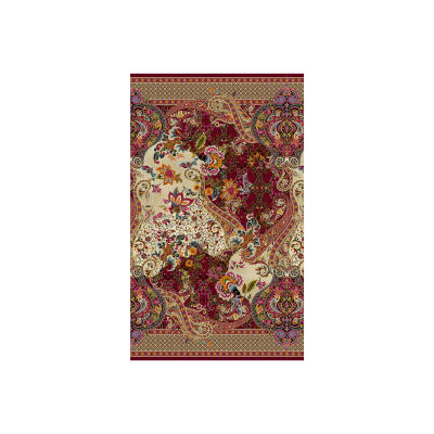 Timeless Treasures Metallic Tivoli Large Paisley Floral Multi