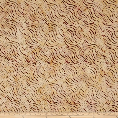 Timeless Treasures Batik Tonga Sophisticate Starburst Tan