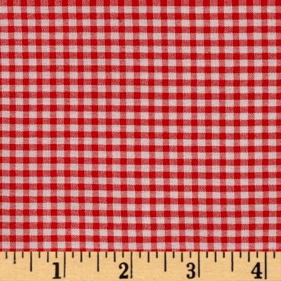 """Polyester 1/8"""" Gingham Shirting Red"""