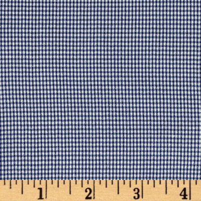 "Polyester 1/16"" Houndstooth Navy/White"