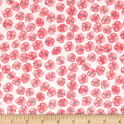 Michael Miller Meet Me In The Meadow Pom Poms Coral