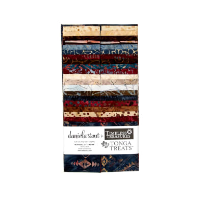 "Timeless Treasures Batik Tonga 2.5"" Strip Packs Sophisticate"