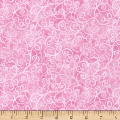 Timeless Treasures Breeze Scroll Blender Pink