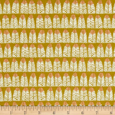 Dear Stella Trail Mix Feathers Mustard