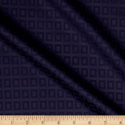 Cotton Lycra Spandex Twill Print Squares Purple