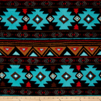 Winter Fleece Peace Stripe Turquoise