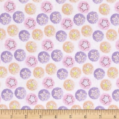 Bedtime Bears Star Dreams Flannel Pink/Purple