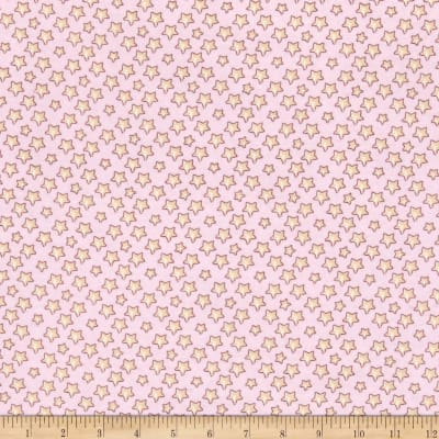 Lullaby Sheep Bedtime Stars Flannel Light Pink
