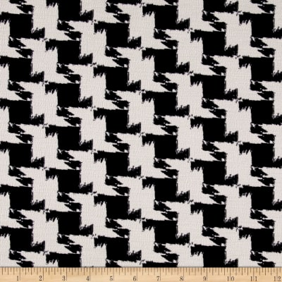 Telio Houndstooth Dimitry Double Knit Ivory/Black