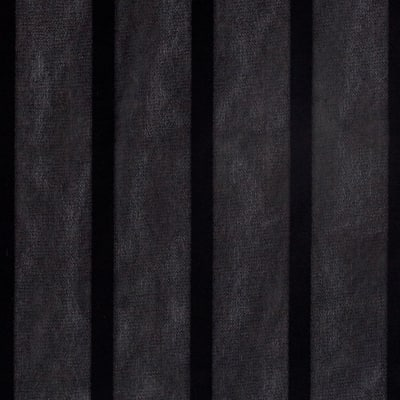 Satin Stripe Crepe de Chine Black