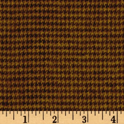 Highland Yarn Dyed Flannel Houndstooth Brown