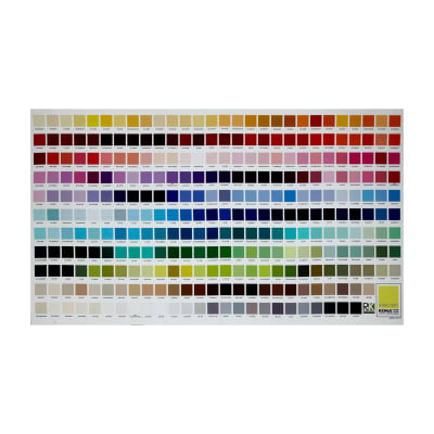 "Kaufman Kona Digital Printed 24"" Color Chart Panel Multi"