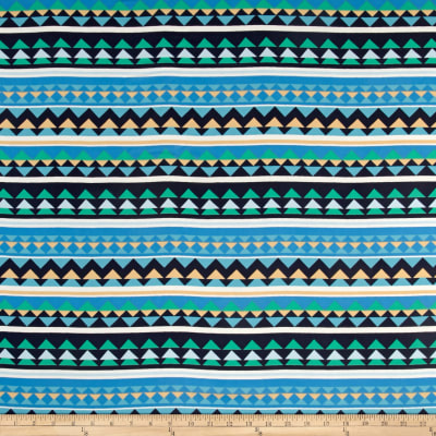 Chiffon Inverted Triangles Multi Blue