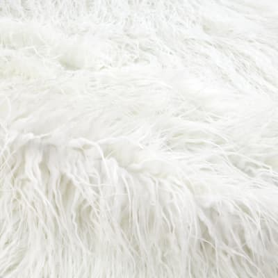 Shannon Luxury Faux Fur Curly Yak White