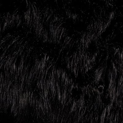 Shannon Luxury Faux Fur Monster  Black