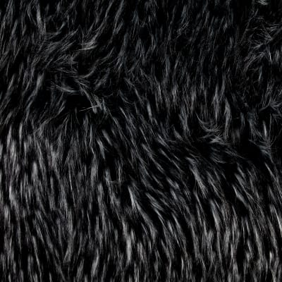 Shannon Luxury Faux Fur Falcon Black/Silver