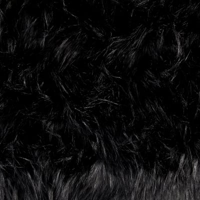 Shannon Luxury Faux Fur Falcon Black/Black