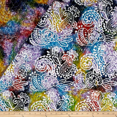 Indian Batik Double Face Quilted Paisley White