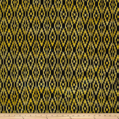 Indian Batik Sierra Nevada Southwest  Stripe Black/Ylw/Gold