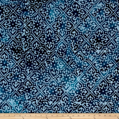 Indian Batik Moody Blues Patch Blue