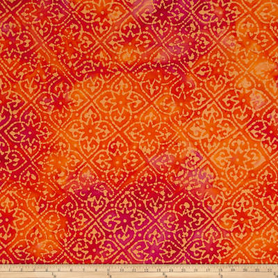 Indian Batik Mirage Patch Orange