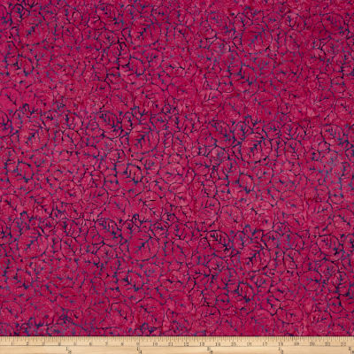 Batik Central Java Lilly Pad Fuchsia