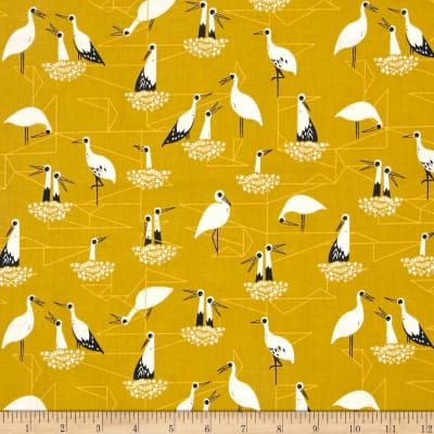 Cotton + Steel From Porto With Love Stork Net Yellow