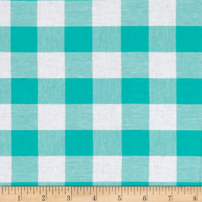 "Cotton + Steel Checkers Yarn Dyed Woven 1"" Mint Chip"