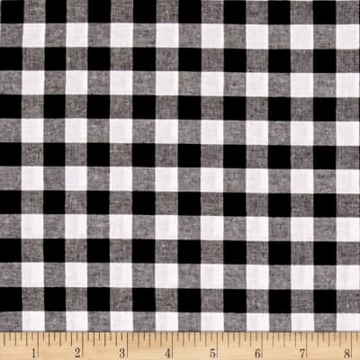 """Cotton + Steel Checkers Yarn Dyed Woven 1/2"""" Black"""