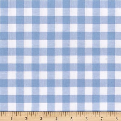 "Cotton + Steel Checkers Yarn Dyed Woven 1/2"" Sky"