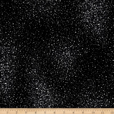 Star Gazing Metallic Flecks Black/Silver