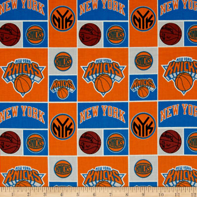 NBA Cotton Broadcloth NY Knicks Orange