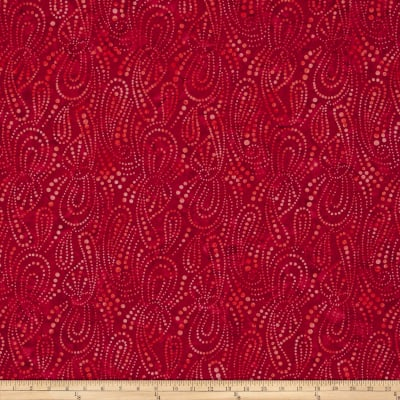 Wilmington Batiks Paisley Dots Red