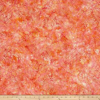 Wilmington Batiks Long Leaves Coral/Orange