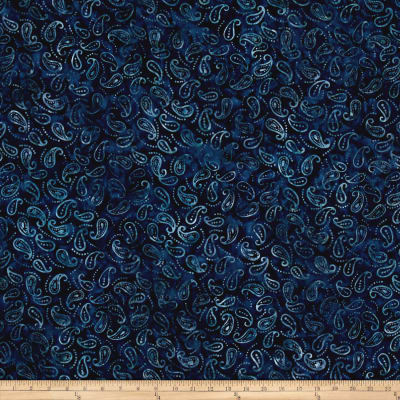 Wilmington Batiks Mini Paisley Navy