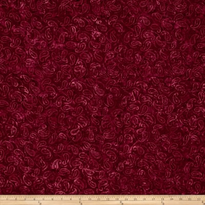 Wilmington Batiks Mini Paisley Burgundy