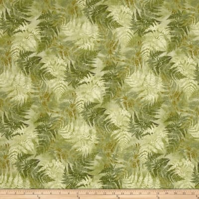 Neutral Nature Ferns Allover Green