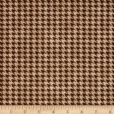 Alpine Woods Houndstooth Tan/Brown