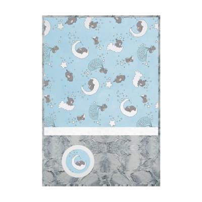 Shannon Minky Lullaby Cuddle Kit Lucky Star Blue