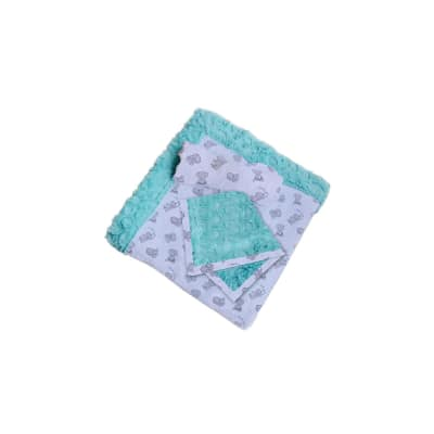 Shannon Patty Cakes Swaddle Gift Double Gauze Minky Set Kit Butter Mints