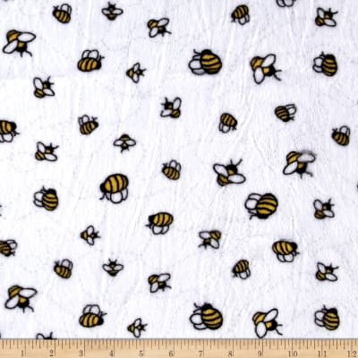 Shannon Minky Cuddle Bees-A-Buzz Sunshine