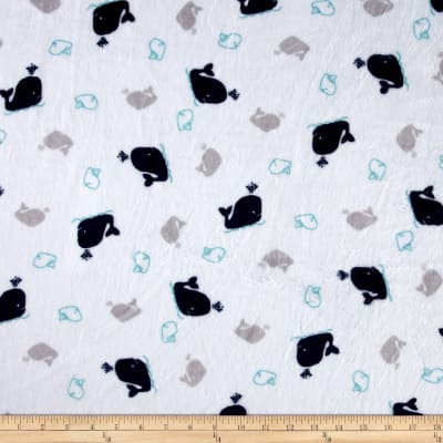 Shannon Studio Minky Cuddle Whales Navy