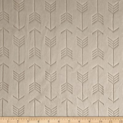 Shannon Minky Embossed Arrow Cuddle Beige