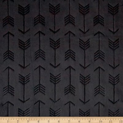 Shannon Minky Embossed Arrow Cuddle Black