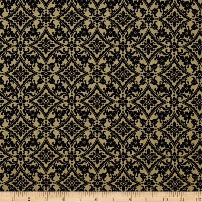 Palm Court Scroll Dark Taupe