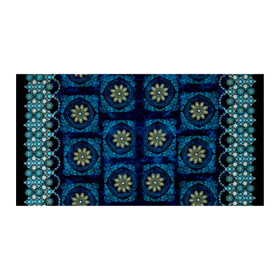 Kanvas Bohemian Rhapsody Bohemian Medallion Double BorderAzure/Teal