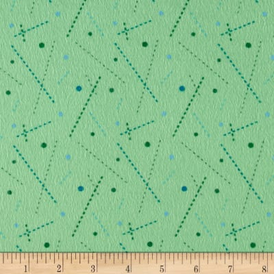 Intrigue Fancy Flannel Stick Dots Mint