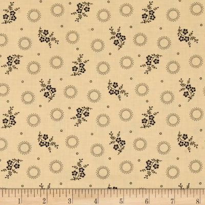 Peppery Circles/Flowers Tan