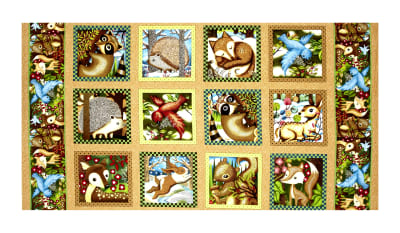 "Woodland Friends 23.5"" Panel Blocks Multi"