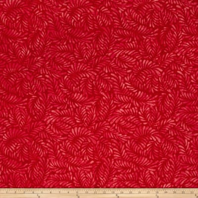 Wilmington Batiks Feathers Red